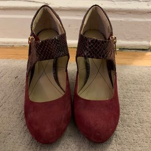 Isola Mary Janes with snake heel